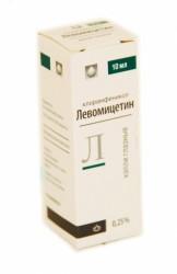 Левомицетин, капли глазн. 0.25% 10 мл №1 флакон-капельница