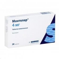 Монтелар, табл. жев. 4 мг №28